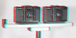 Lomo LCA 32mm montiert auf einer 30 cm Stereoschiene