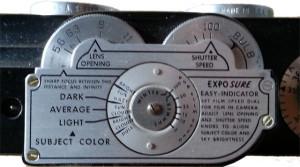Easy-Indicator zur Einstellung von Blende und Belichtungszeit